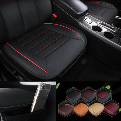 Black PU Leather Breathable Auto Car Chair Cover Front Seat Cover Cushion Mat