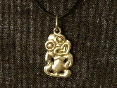 New Zealand Sterling Silver Tiki Pendant Or Charm