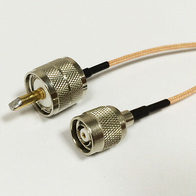 "UHF male PL259 to RP TNC male pigtail cable RG316 15cm 6"" for wireless router"