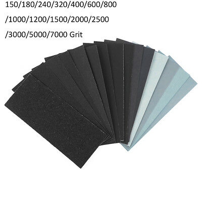 WET DRY SANDPAPER (2.28x5.55'') 10 Pcs - 1500,2000,2500,3000,4000,5000 Grit