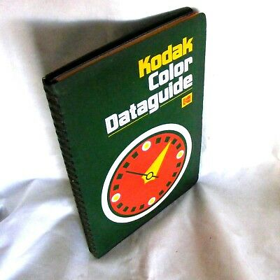 1975 Kodak Color Dataguide ... film camera colour photography guide processing