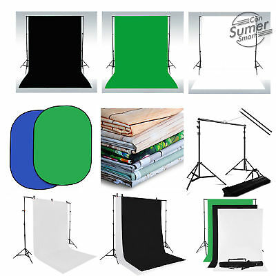 Black White Green Chromakey Photo Backdrop Studio Background Studio Stand Kit UK
