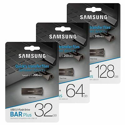 Samsung 32/64/128 GB USB 3.0 3.1 BarPlus Flash Memory Drive Stick 300MB/s
