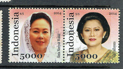 Indonesia 2014 Pair Of Indonesian First Ladies - Used - Very Fine