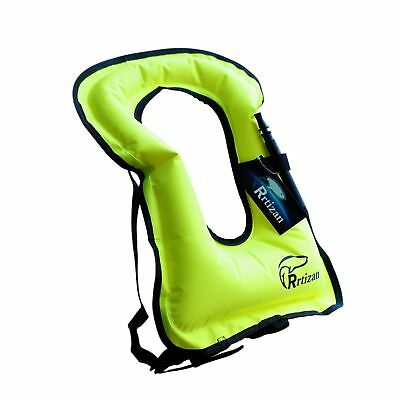 Rrtizan Unisex Adult Portable Inflatable Canvas Life Jacket Snorkel Vest For ...