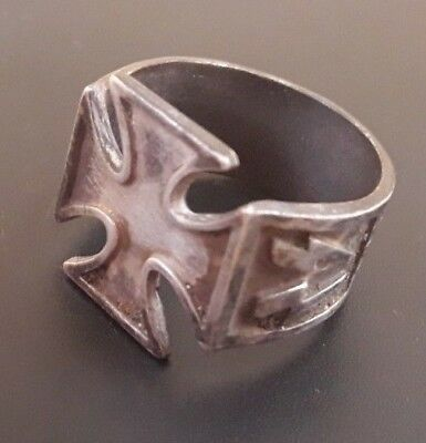 Ancient  Silver Ring Scandinavian Warrior Amulet Authentic Collection #9