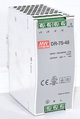 Mean Well DR-75-48 Power Supply 48VDC 1.8A
