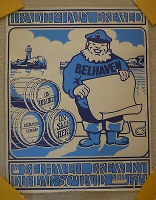 """Belhaven Brewery Poster, 21"""" Width X 26.5 """" Length, Excellent Condition"""