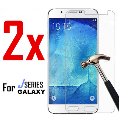 2X Tempered Glass Screen Protector Film for Samsung Galaxy J3 J5 J7 Pro 2017 K6