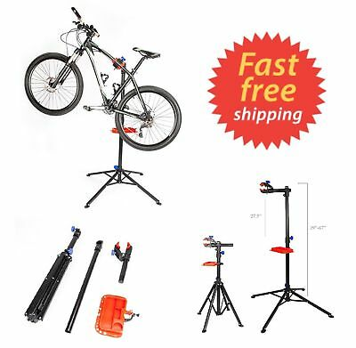 Adjustable Height Bike Repair Stand Portable Home Bicycle Stand w Telescopic Arm