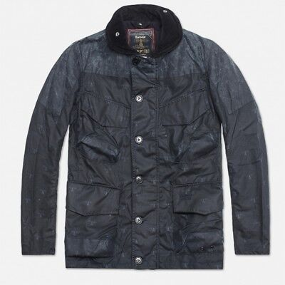 Men`s BARBOUR DEPT B MAST Waxed Jacket Casual Rare Size S/M