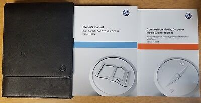 Vw Golf 2013-2016 Gti Gtd R Gte Handbook Owners Manual Navi Wallet Ref E-715 !