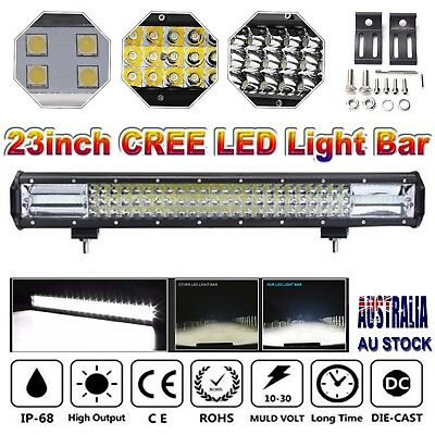 "23""inch CREE LED Light Bar Spot Flood Driving Lamp Offroad 4WD 4x4 Truck JEEP AU"
