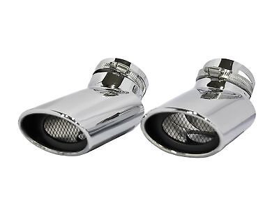 1PC Car Auto Exhaust Muffler Tip Stainless Steel Pipe Chrome Trim For Land Rover