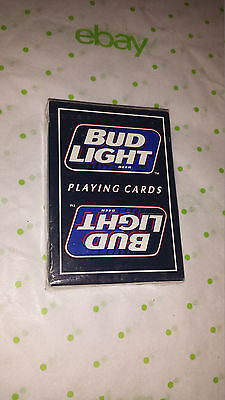 Vintage Bud Light Anheuser Busch Brand 1996 New Unopened Deck Playing Cards
