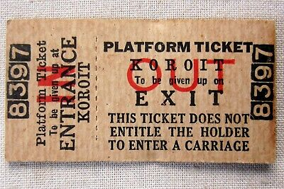 VICTORIAN RAILWAYS - Platform Ticket Koroit
