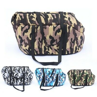 Pet Carry Bag Camo Style Dog Carrier Shoulder Bag Cat Kitten Travel Handbag NEW