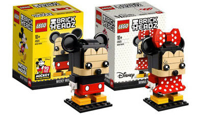 LEGO BrickHeadz Disney Mickey + Minnie Mouse Bundle 41624 41625 NEW & SEALED!