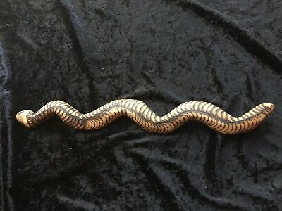 Old Aboriginal Carved Pokerwork Snake -47Cm-Long!-Private Collection