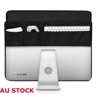 """Cover Case Protective Computer Soft For iMac 21.5/27"""" Dust Monitors Cover Black"""