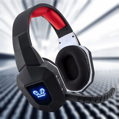 Wireless Headsets Portable Stereo Gaming Moving Coil Headphones with Mic for PC