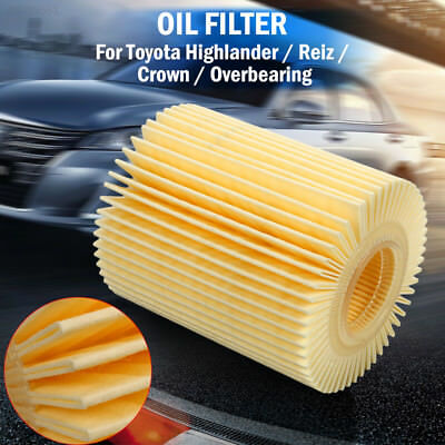 Oil Filter Fits Multiple Models 04152-YZZA5 Smooth for Toyota Highlander Crown
