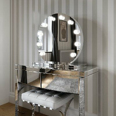 Hollywood Mirror Round Illuminated Modern Dressing Table Mirror No