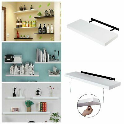 Heavy Duty High Gloss Floating Wall Mount Bookshelf Storage Display Shelves