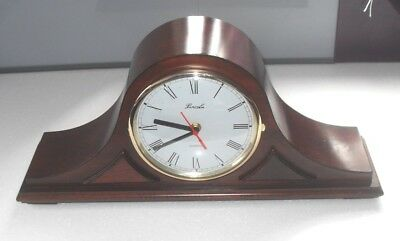 Large Lincoln Napoleon Hat Quartz Mantel Clock In Mahogany