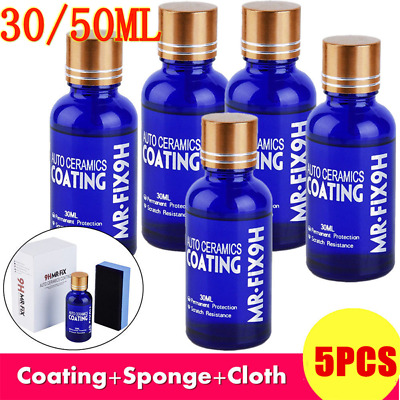 5-PACK 50ML & 30ML 9H MR FIX ORIGINAL SUPER CERAMIC CAR COATING Wax HIGH QUALITY
