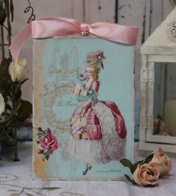 """""""Shopping with Marie"""" Shabby Chic Vintage Country Cottage style Wall Decor Sign"""