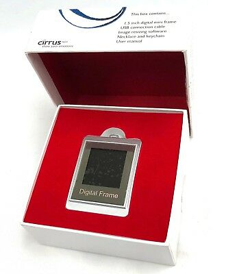 Cirrus 1.5 Inch Rechargeable Digital Photo Frame LCD Display 8MB Memory - Silver