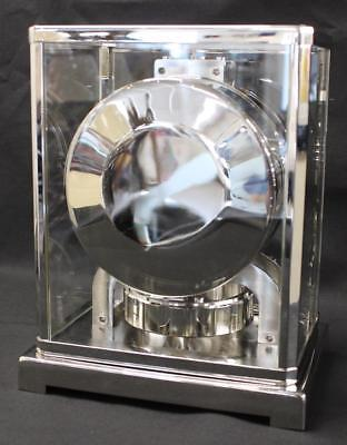 Jaeger-LeCoultre Atmos Perpetual Clock Rare Nickel Plated and in Perfect Conditi