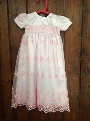 Baby girls/ reborn  christening  dress 6/12 months