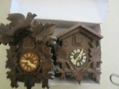 Two Wooden Cookcoo clocks - not working
