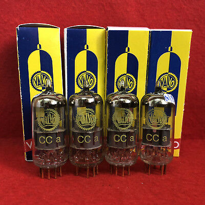 4x Great tested Valvo CCa ( E88CC / 6922 ) yellow labeled