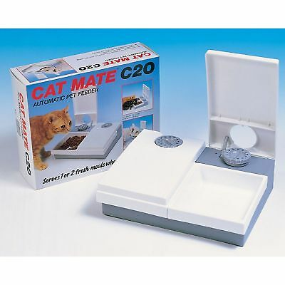 Pet Mate Cat Mate C20 Automatic Double Pet Feeder With Ice Pack (VP8589)