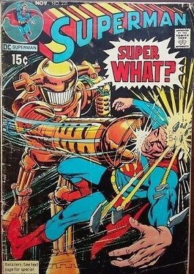 DC Comics Superman 1970 Issue No. 231