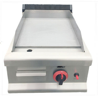 Gas Griddle Commercial Flat Hotplate Burger Grill Fryer 40cm NATURAL GAS OR LPG