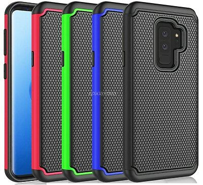 Rugged Shockproof Matt Silicone Hybrid Case Cover For Samsung Galaxy S9 & Plus