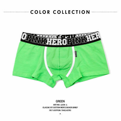 c3a12800aaef New Men's Boxer Soft Briefs Underpants Knickers Shorts Cotton Underwear  Green