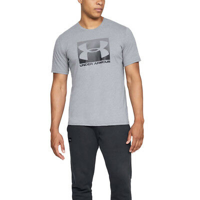 Under Armour Mens Boxed Sportstyle Short Sleeved T Shirt Tee Top Grey Sports Gym