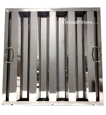 "20"" x 20"" x 1.5"" Stainless Steel Hood Filter - 8012338"