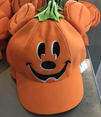 Disney Parks Candy Mickey Pumpkin Halloween Hat NWT 2018
