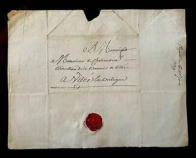 Historical Signed Document 1739. RARE RED SEAL