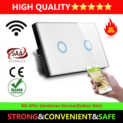 New AU Approved SMART HOME WIFI Touch wall light Single Switch Panel 1 2 3 gang