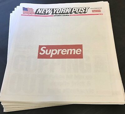 Supreme New York Post - SPORTS EXTRA LIMITED EDITION - Full Newspaper