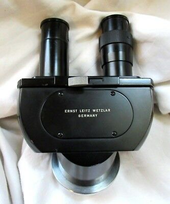 Vintage Ernst Leitz Wetzlar Binocular Head L442-FOR PARTS/REPAIR - Used/Untested