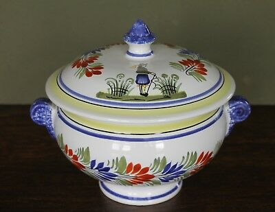 Henriot Quimper Henriot Soup Tureen 316 Lid Decorated with Breton man