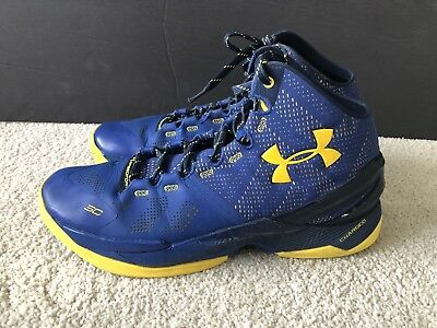 Under Armour Curry 2 Dub Nation Sz 11 Ua Blue Yellow Black 1274425
